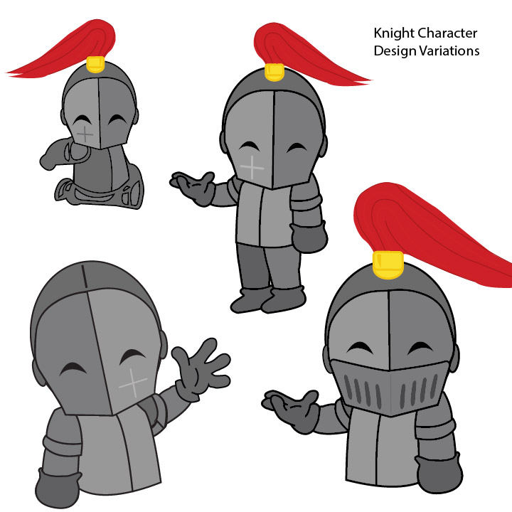 4 Knight characters in a variety of poses